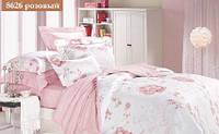 """Комплект постельного белья """"Viluta"""" ранфорс № 6 Евро Вилюта № 8626 розовый"""