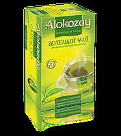Alokozay зеленый цейлонский пакетированный мята  25 х 2г