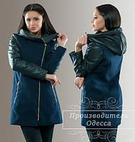 Женское пальто на стеганном синтипоне