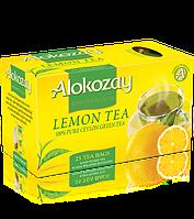Чай зеленый с лимоном пакетированный Alokozay  25 х 2г