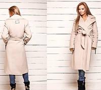 Пальто с натуральным съемным мехом