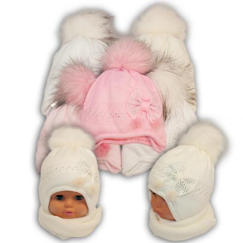 Детский комплект - шапка и шарф для девочки - i-3,  Ambra (Польша), утеплитель Iso Soft