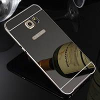 Чехол бампер для Samsung Galaxy S6 Edge зеркальный Брак