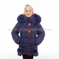 Зимнее пальто для девочки Миледи, новинки зима 2017