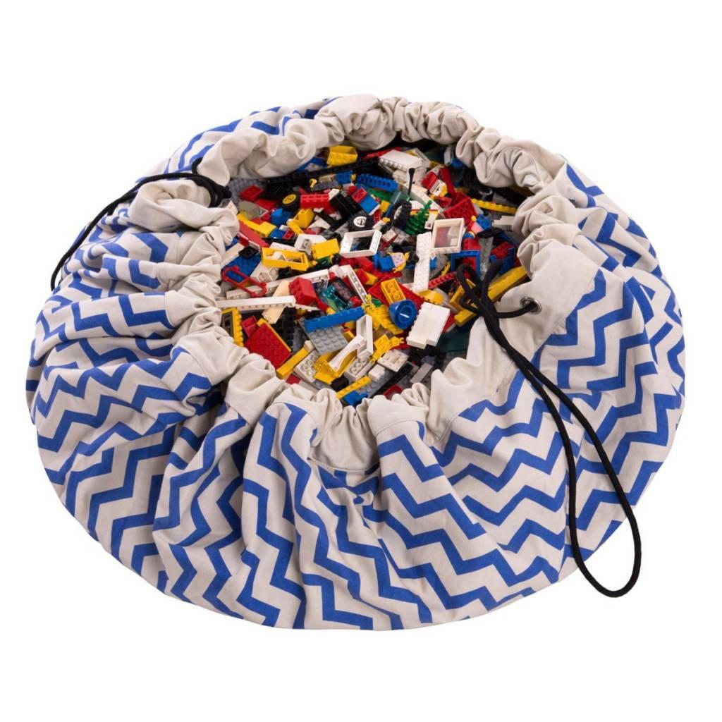 Play&Go - Мешок для игрушек, зигзаг синий