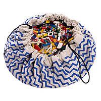Play&Go - Мешок для игрушек, зигзаг синий, фото 1
