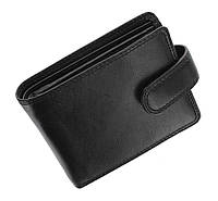 Мужской кожаный кошелек Visconti HT13 - Strand (black)