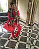 Стильный красный костюм, фото 3