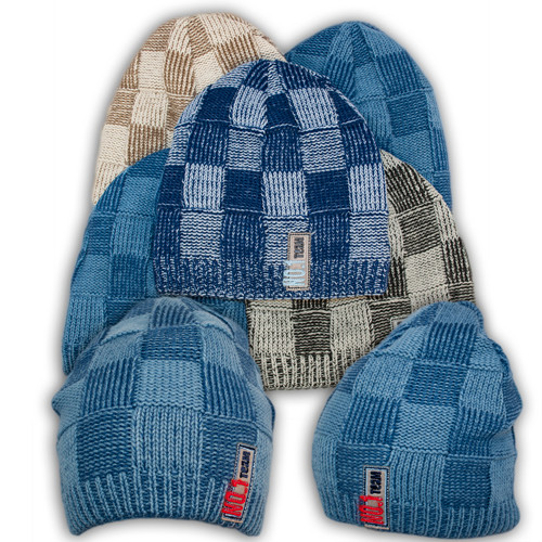 Вязаная шапка с подкладкой флис для мальчика - T32, Ambra (Польша)
