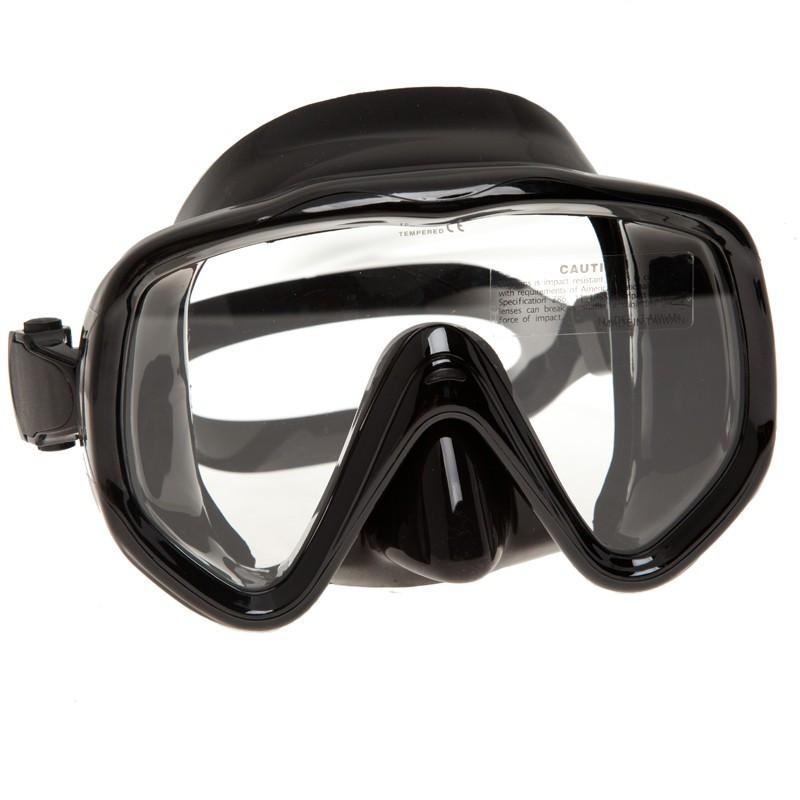 Маска Visualator(черная) для подводной охоты