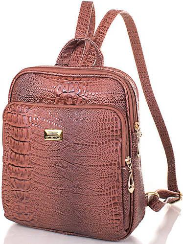 Практичный женский рюкзак из качественной искусственной кожи ETERNO Артикул: ETMS35240-12-1 коричневый