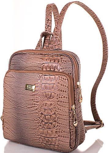 Оригинальный женский рюкзак из качественной искусственной кожи ETERNO Артикул: ETMS35240-12 бежевый