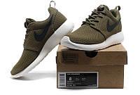 Кроссовки мужские беговые Nike Roshe Run Brown - 899 (в стиле найк роше ран)