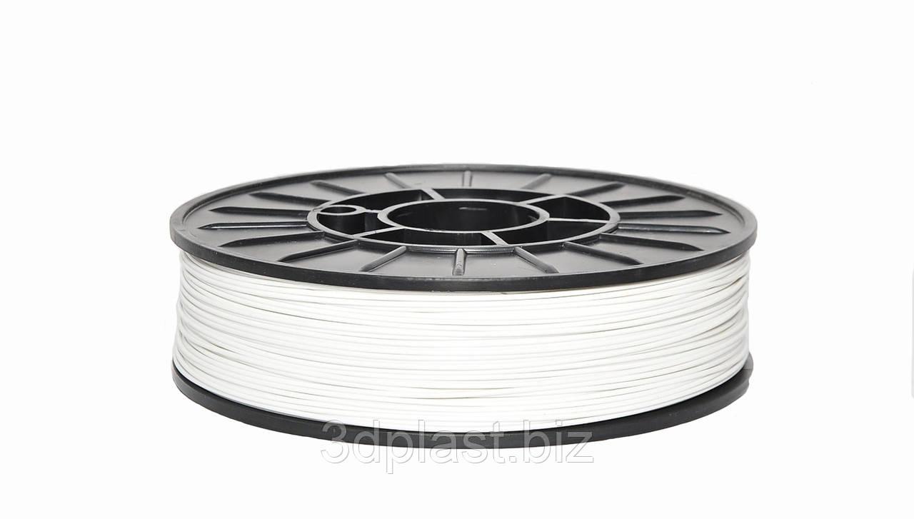Нить ABS (АБС) пластик для 3D принтера, 1.75 мм, белый