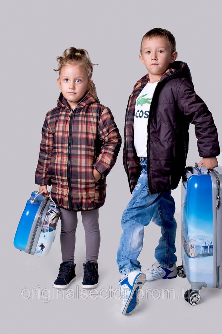 куртка детская двусторонняя из плащевки