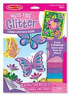 """Набор для творчества с блестящими наклейками """"Цветы и бабочки"""", Melissa&Doug"""