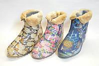 Полусапожки женские силикон мех  Украина