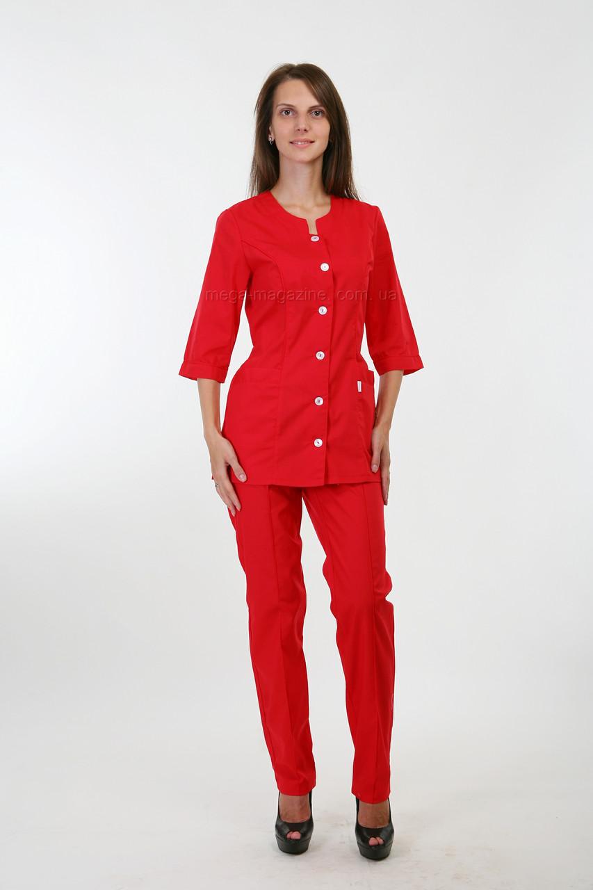 4a857edc030 Костюм медицинский женский красного цвета - Медицинская одежда