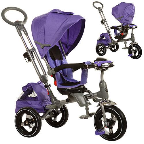 Велосипед трёхколёсный M 3203HA-1 фара фиолет