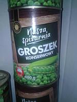 Горошек зеленый консервированный Nasza Spizarnia 400 g (Польша)