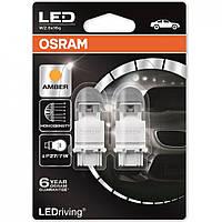 P27/7W Лампочки поворота  OSRAM LED PY27/7W LED 12V 1.42/0.54W W2 LEDriving Premium янтарно- желтый 3557YE-02B