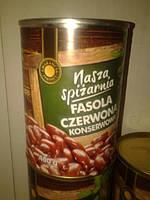Консервированная фасоль (белая ,красная) Nasza Spizarnia  400 g (Польша)