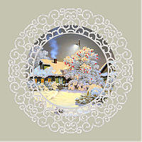 Схема для вышивки бисером POINT ART Крещенские морозы, размер 22х22 см
