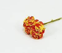 """Цветы для декора """"пион оранжевый"""""""