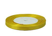 Желтая репсовая лента 0,6см