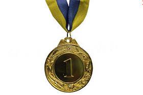 Медаль спорт d-4,5см C-3969-1 золото GLORY (20g, на ленте)