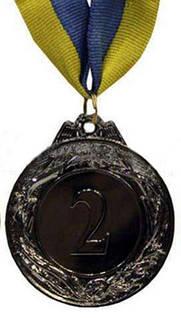 Медаль спорт d-4,5см C-3969-2 серебро GLORY (20g, на ленте)