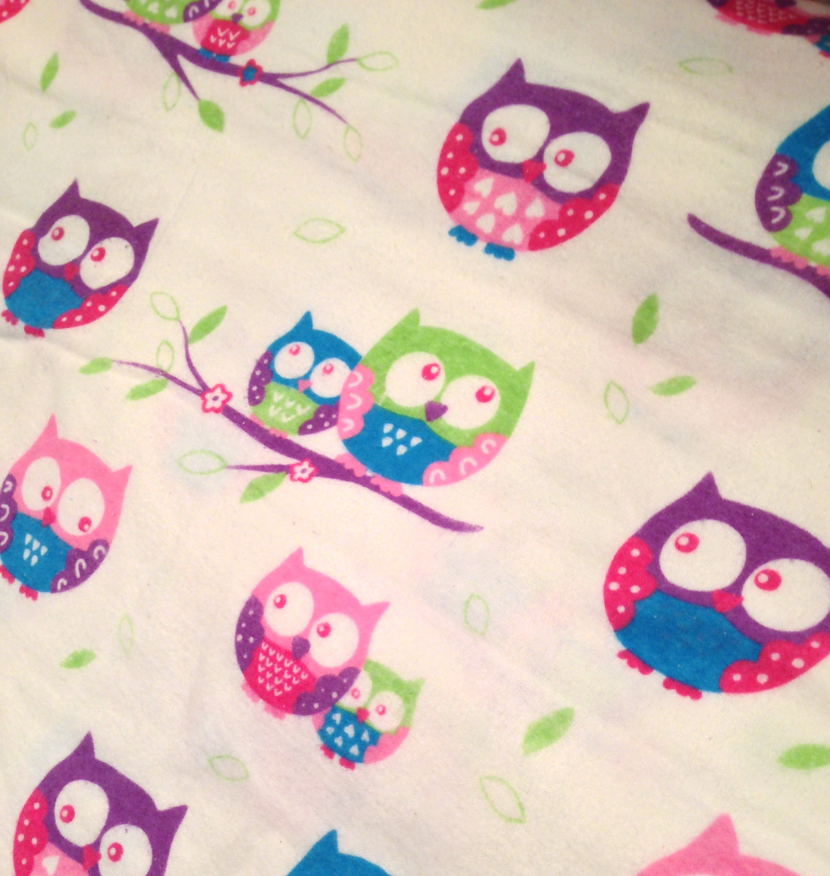 36c73fe3c7c Фланель детская совы разноцветные от интернет-магазина Ваши Ткани