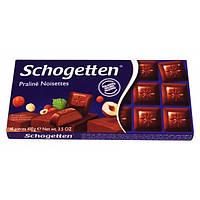 Шоколад молочный Schogetten Praline Noisettes, 100 г (Германия)
