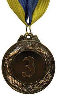 Медаль спорт d-4,5см C-3969-3 бронза GLORY (20g, на ленте)