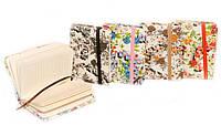 """Блокнот A7-39 """"Цветочки с блеском"""" на резинке, микс (100 листов, 7*10 см.)"""
