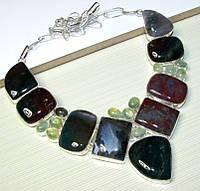 Колье из натуральных камней - Моховой Агат ( Дендроагат), Пренит, фото 1