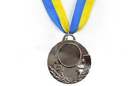 Медаль (заготовка) спорт d-5 см С-4846 AIM 2 место (серебро)