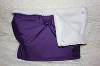 Муфта для рук фиолетовая на белом мутоне, фото 1