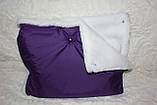 Муфта для рук фіолетова на білому мутоне, фото 2
