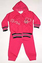 Костюм теплый на девочку розовый Турция арт 135.
