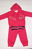 Костюм теплий на дівчинку рожевий Туреччина арт 135., фото 2