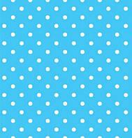 """Праздничные салфетки """"Горох"""", 33*33 см, двухслойная, цвет голубой"""