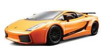 Автомодель LAMBORGHINI GALLARDO SUPERLEGGERA 2007 оранжевый металлик 1:24 Bburago (18-22108)