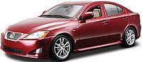 Автомодель LEXUS IS 350  черный, красный металлик 1:24 Bburago (18-22103)