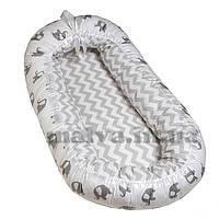 Кокон, гнездышко для новорожденного Зигзаг/слон