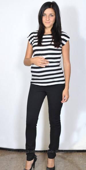Леггинсы для будущих мам из плотного трикотажа С карманами -            Интернет-магазин «Fashion-Mama» в Днепре