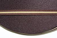 ТЖ 10мм репс (50м) коричневый(шоколад)+т.бежевый, фото 1