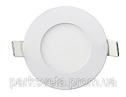 Led светильник Lezard 3W 4100K врезной круг