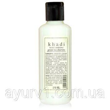 Кондиціонер для сухого та пошкодженого волосся «Зелений чай і алое віра» Khadi / 210 мл