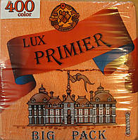 Салфетка бумажная премьер 400л персик